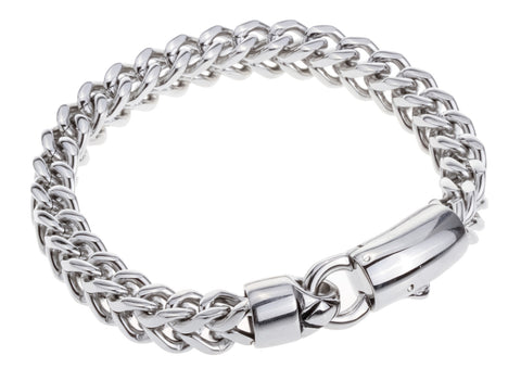 Stainless Steel Link Chain Bracelet For Men - USA Fashions