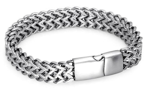 Double Fox tail Box Steel Bracelets For Men - USA Fashions