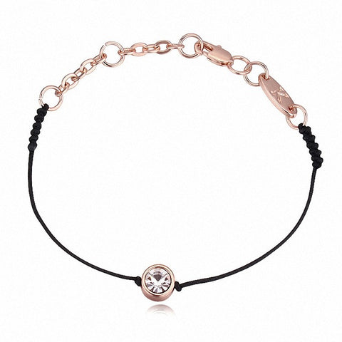 Real Austria thin Black string Bracelet - USA Fashions