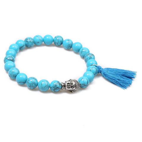 Buddha Natural Stone Bracelet - USA Fashions