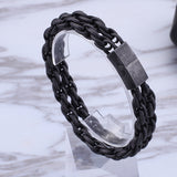 Simple Black Stainless Bracelet - USA Fashions
