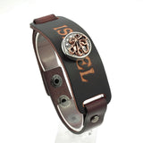 high quality fashion snap button Genuine Leather bracelet - USA Fashions