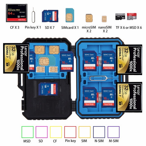 22 IN 1 MEMORY/SD CARD STORAGE