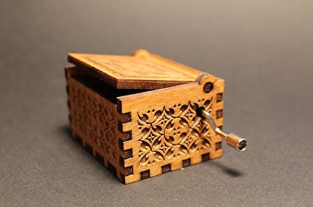 Engraved Wooden HP Music Box