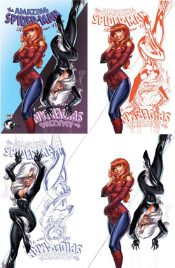 Amazing Spider-Man: Renew Your Vows #13 J. Scott Campbell 4 Cover Exclusive Set