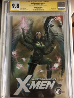Astonishing X-Men #1 Unknown Comics Variant CGC 9.8 SS Sketched Rogue #10/10