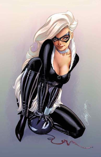 Black Cat #2 J. Scott Campbell Symbiote Spider-Man Virgin Variant
