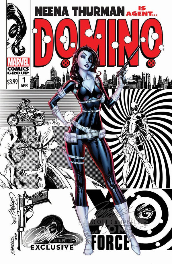 "Domino #1 J. Scott Campbell Edition C ""Retro Spy Domino"" Variant Exclusive"