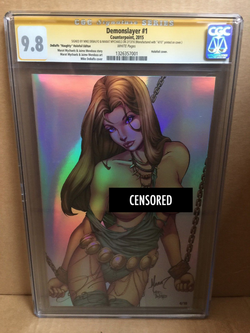 Demonslayer #1 DeBalfo NUDE Chromium Exclusive CGC 9.8