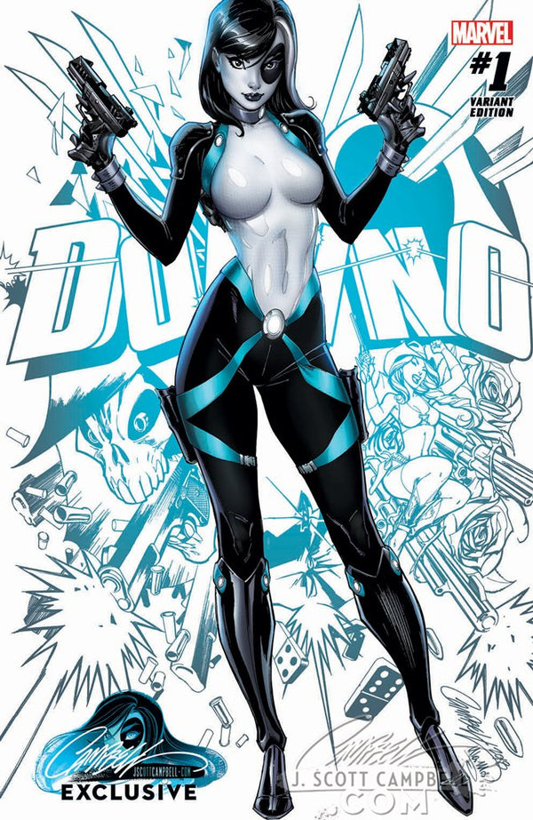 "Domino #1 J. Scott Campbell Edition A ""Modern Domino"" Variant Exclusive"