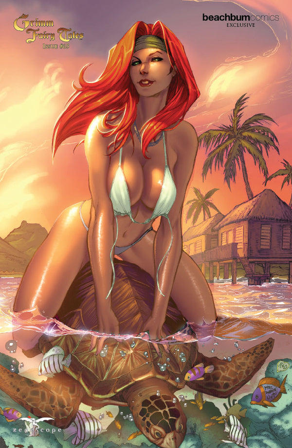 "Grimm Fairy Tales #65 BeachBum Comics ""Bora Bora"" Naughty Belinda Exclusive"