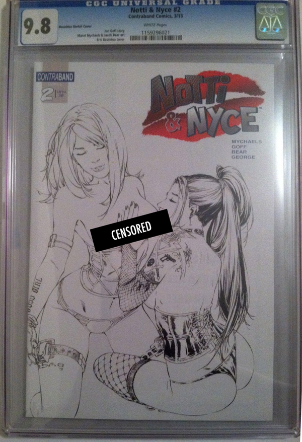 Notti & Nyce #2 EBAS Naughty Sketch Exclusive CGC 9.8