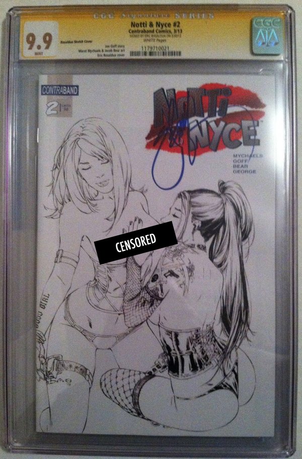 Notti & Nyce #2 EBAS Naughty Sketch Exclusive CGC 9.9 SS