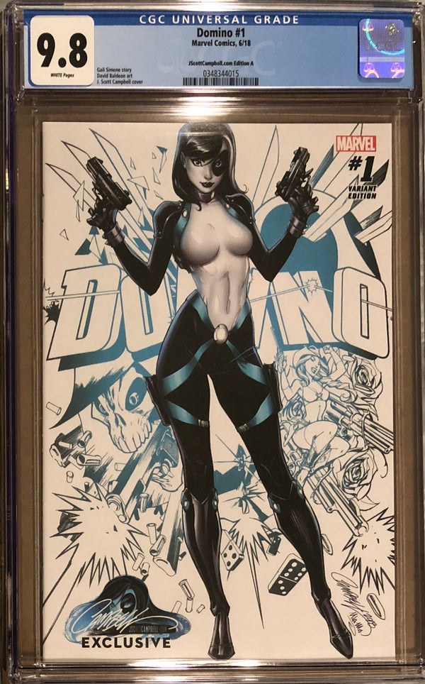 Domino #1 J. Scott Campbell Edition A Variant Exclusive CGC 9.8