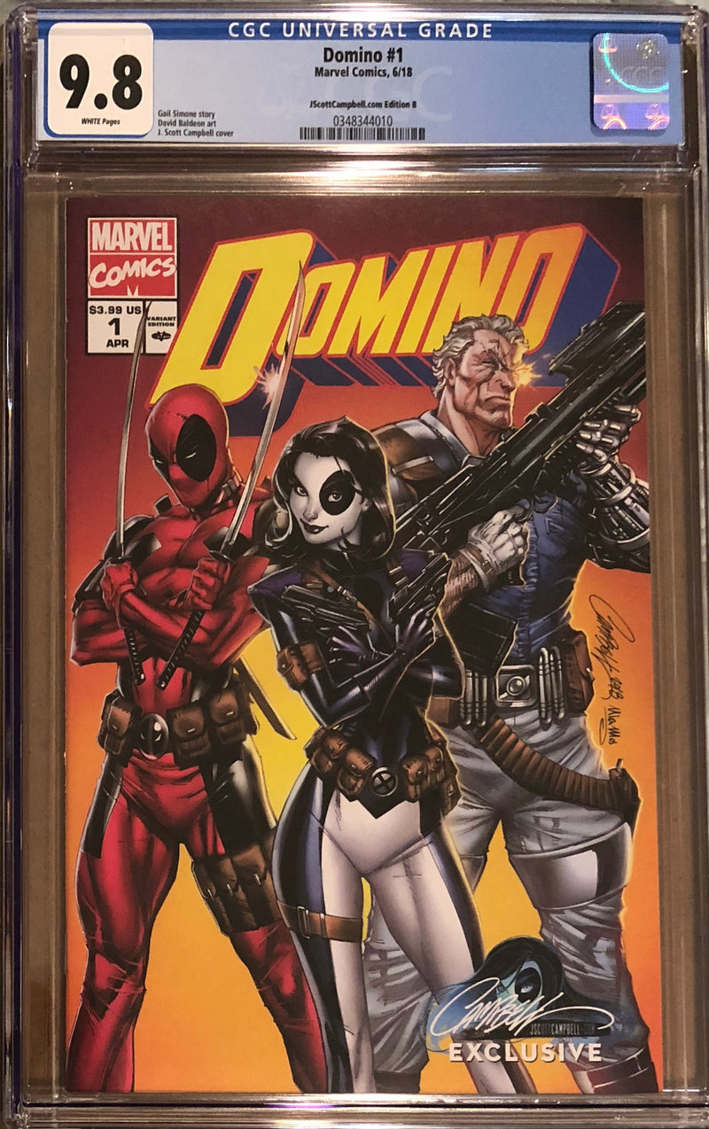 Domino #1 J. Scott Campbell Edition B Variant Exclusive CGC 9.8