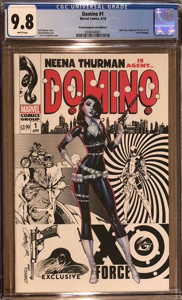 Domino #1 J. Scott Campbell Edition C Variant Exclusive CGC 9.8