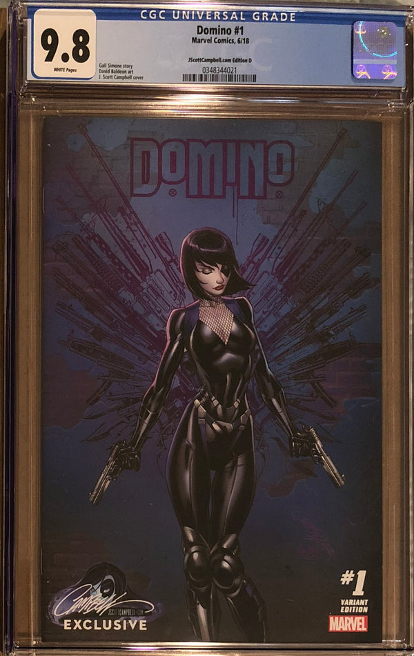 Domino #1 J. Scott Campbell Edition D Variant Exclusive CGC 9.8