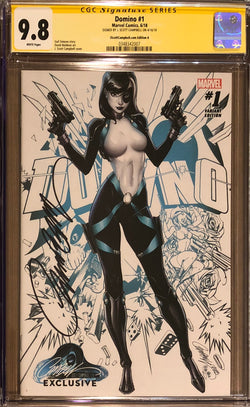 Domino #1 J. Scott Campbell Edition A Variant Exclusive CGC 9.8 SS