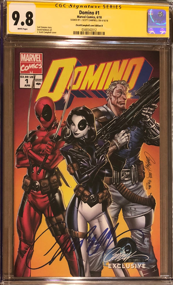 Domino #1 J. Scott Campbell Edition B Variant Exclusive CGC 9.8 SS