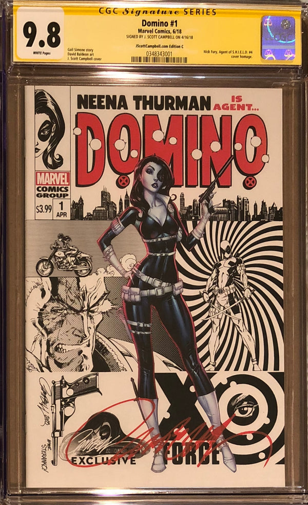 Domino #1 J. Scott Campbell Edition C Variant Exclusive CGC 9.8 SS