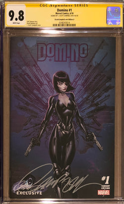 Domino #1 J. Scott Campbell Edition D Variant Exclusive CGC 9.8 SS
