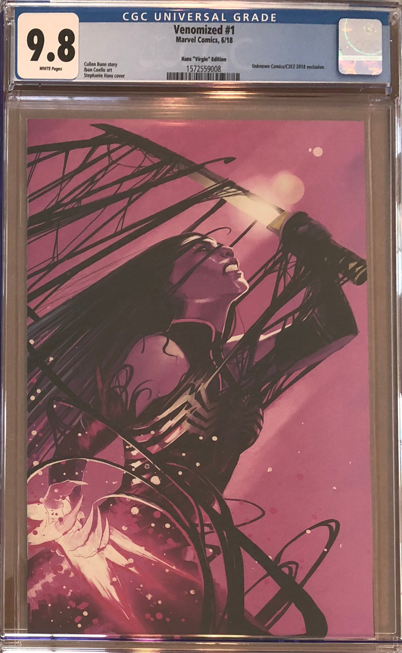 Venomized #1 Stephanie Hans Virgin Exclusive CGC 9.8