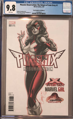 Phoenix Resurrection: The Return of Jean Grey #1 J. Scott Campbell Edition D Variant CGC 9.8