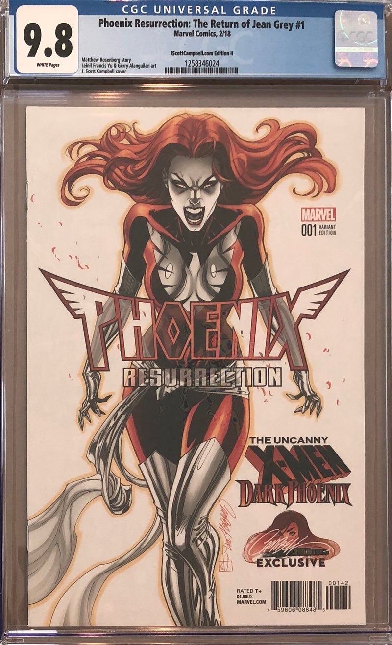 Phoenix Resurrection: The Return of Jean Grey #1 J. Scott Campbell Edition H Variant CGC 9.8