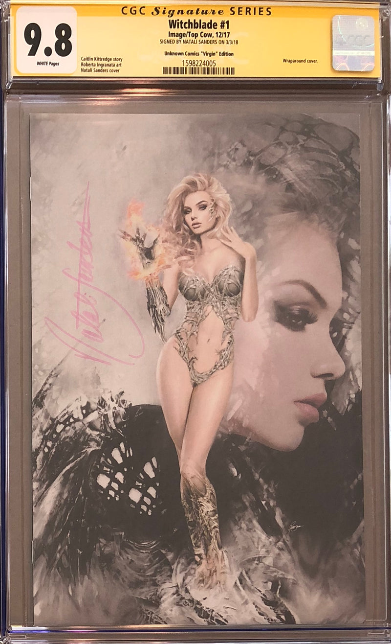 Witchblade #1 Unknown Comics Virgin Edition CGC 9.8 SS
