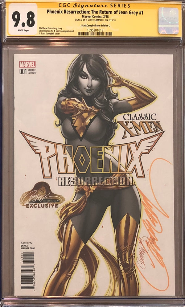 Phoenix Resurrection: The Return of Jean Grey #1 J. Scott Campbell Edition C Variant CGC 9.8 SS