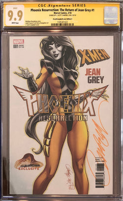 Phoenix Resurrection: The Return of Jean Grey #1 J. Scott Campbell Edition E Variant CGC 9.9 SS