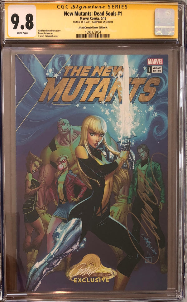 New Mutants: Dead Souls #1 J. Scott Campbell Edition A Variant Exclusive CGC 9.8 SS