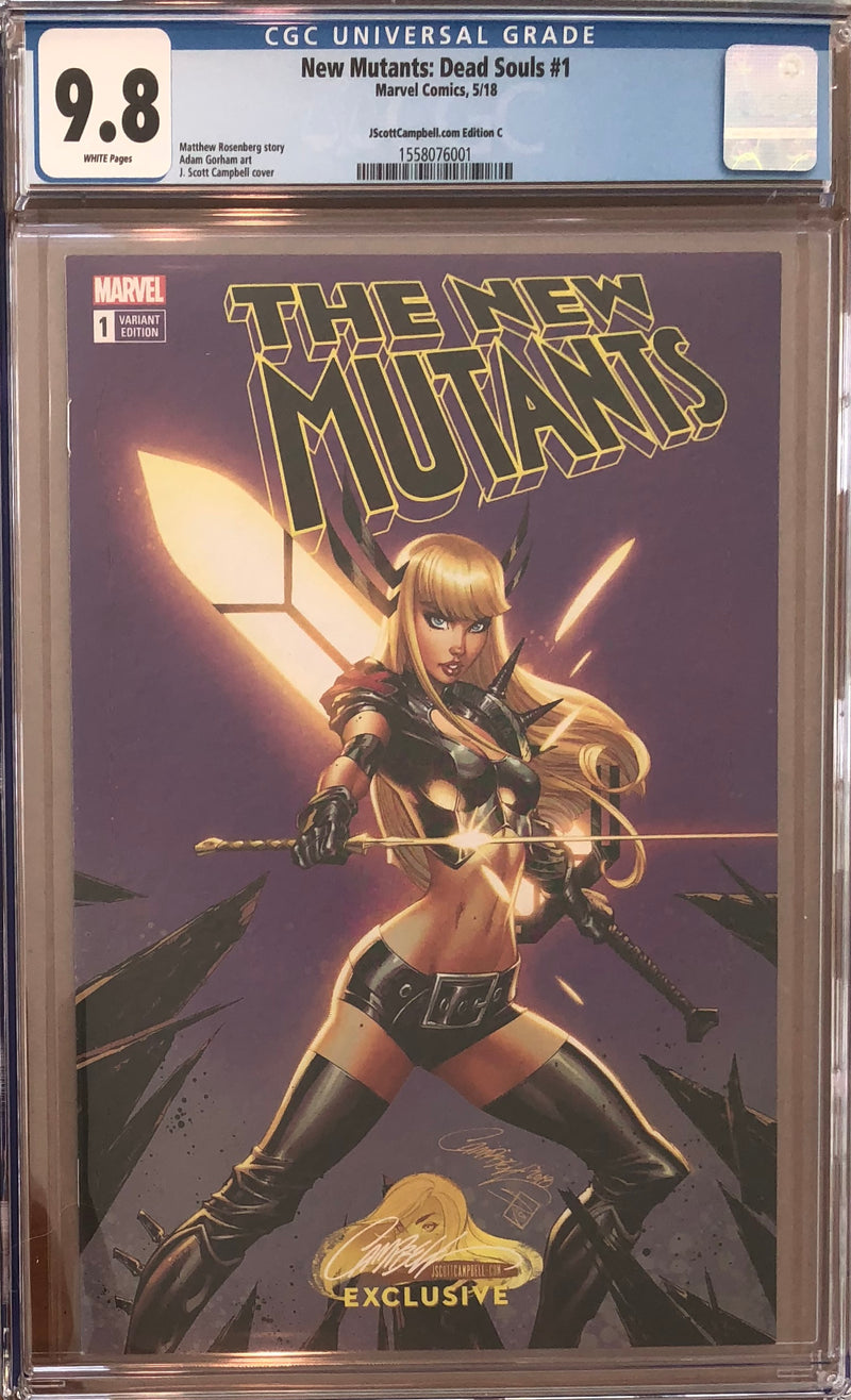 New Mutants: Dead Souls #1 J. Scott Campbell Edition C Variant Exclusive CGC 9.8