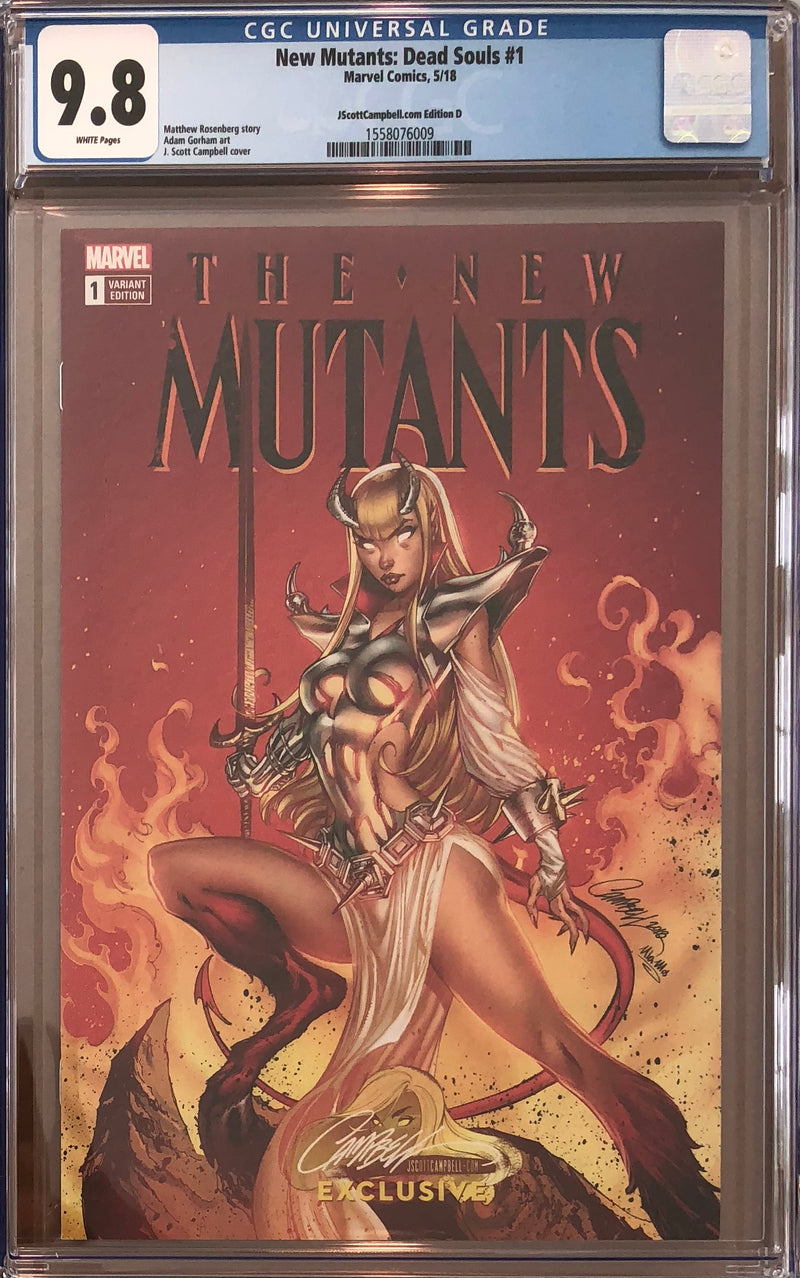 New Mutants: Dead Souls #1 J. Scott Campbell Edition D Variant Exclusive CGC 9.8