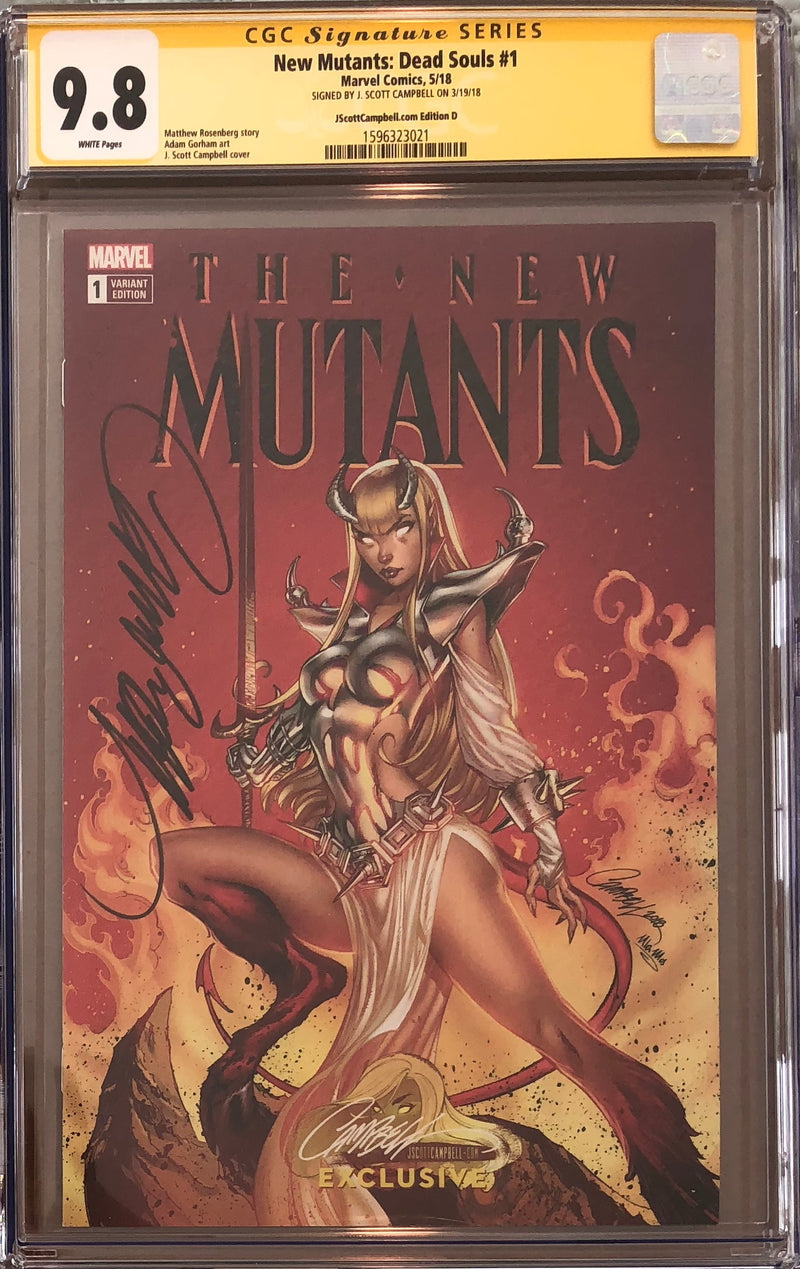New Mutants: Dead Souls #1 J. Scott Campbell Edition D Variant Exclusive CGC 9.8 SS