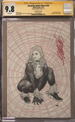 Amazing Spider-Man #799 Frank Cho Ballpoint Pen Virgin Exclusive CGC 9.8 SS