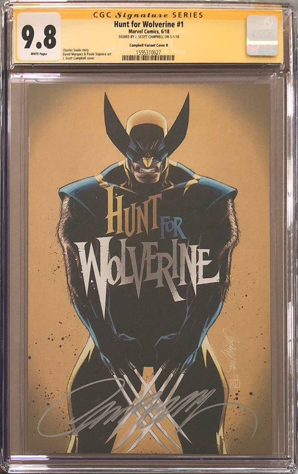 "Hunt For Wolverine #1 J. Scott Campbell Calgary Expo ""Yellow"" B Virgin Exclusive CGC 9.8 SS"
