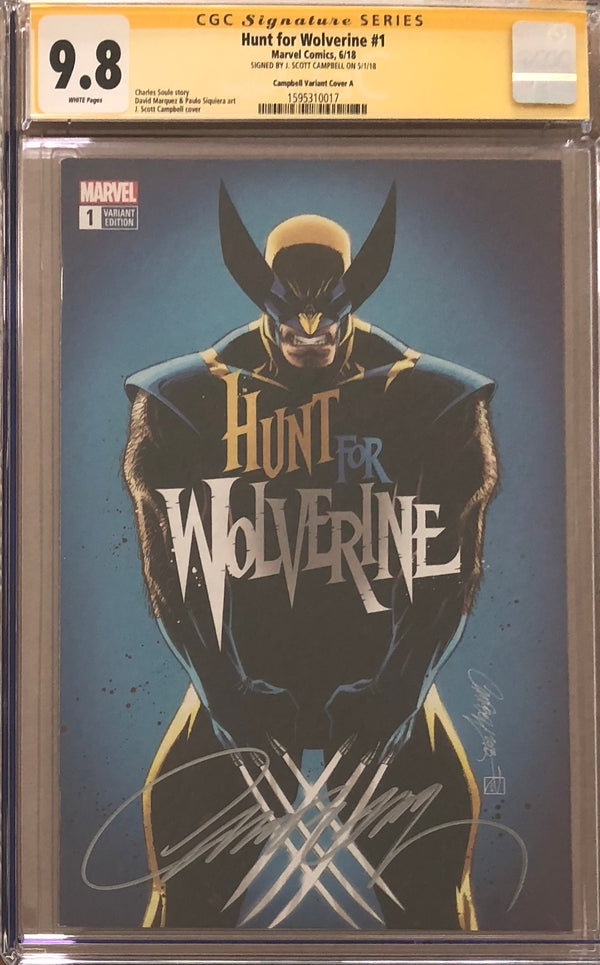 Hunt For Wolverine #1 J. Scott Campbell Calgary Expo Exclusive CGC 9.8 SS