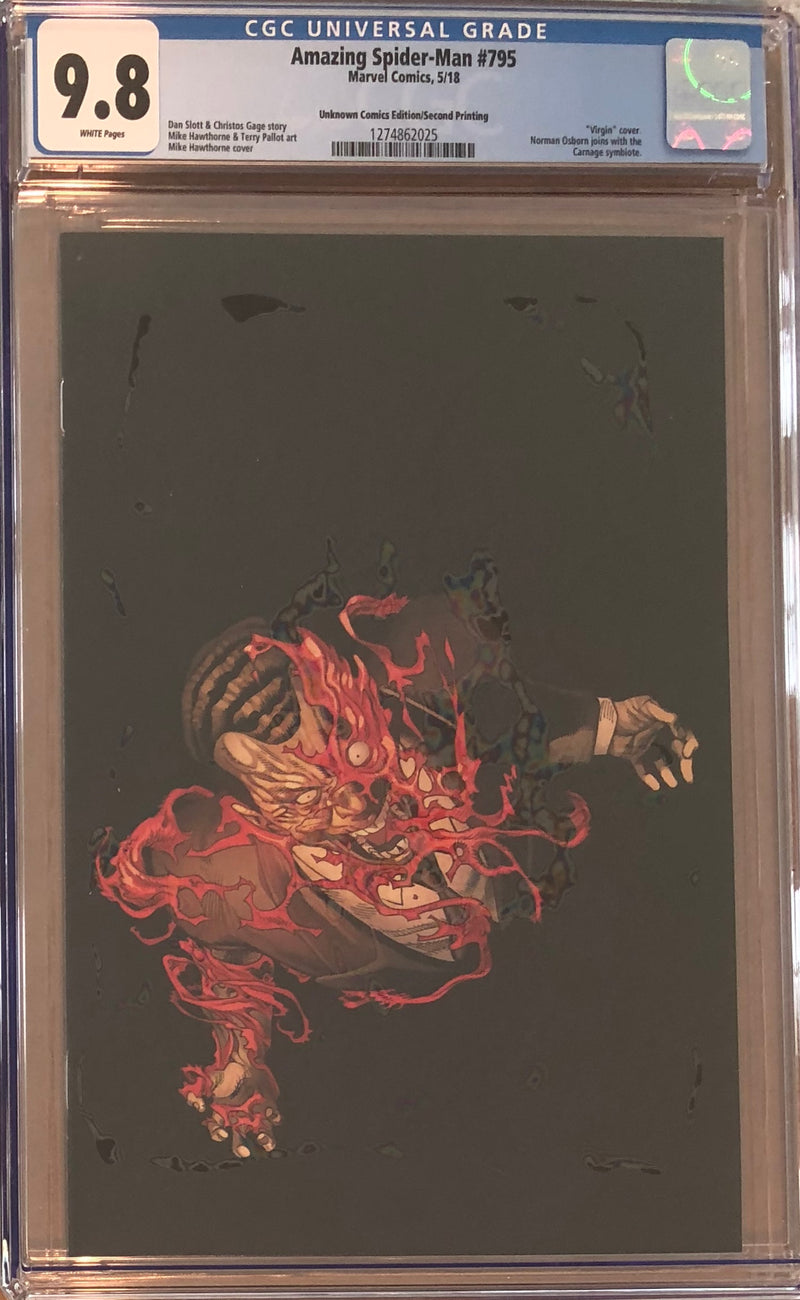 Amazing Spider-Man #795 Unknown Comics Virgin Exclusive CGC 9.8
