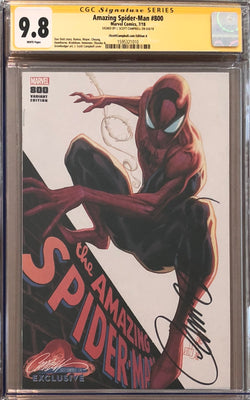"Amazing Spider-Man #800 J. Scott Campbell Edition A ""Spider-Man"" Exclusive CGC 9.8 SS"