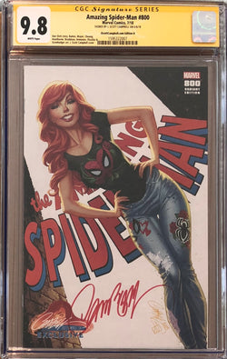 "Amazing Spider-Man #800 J. Scott Campbell Edition B ""Mary Jane"" Exclusive CGC 9.8 SS"