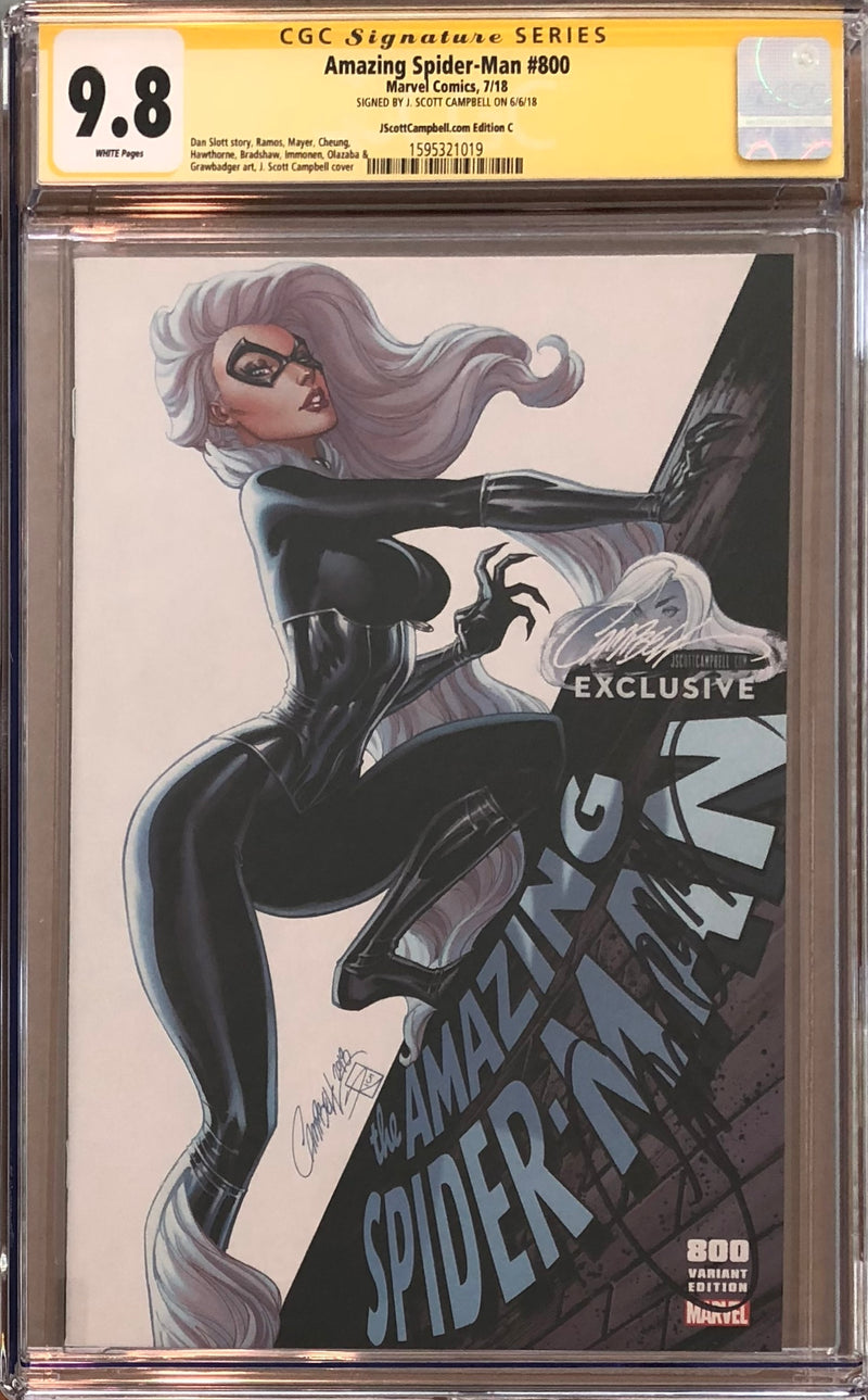 "Amazing Spider-Man #800 J. Scott Campbell Edition C ""Black Cat"" Exclusive CGC 9.8 SS"