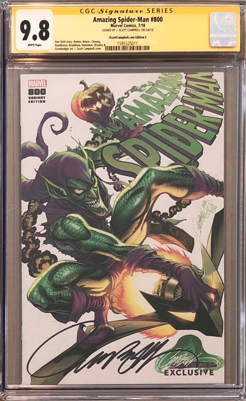 "Amazing Spider-Man #800 J. Scott Campbell Edition E ""Green Goblin"" Exclusive CGC 9.8 SS"