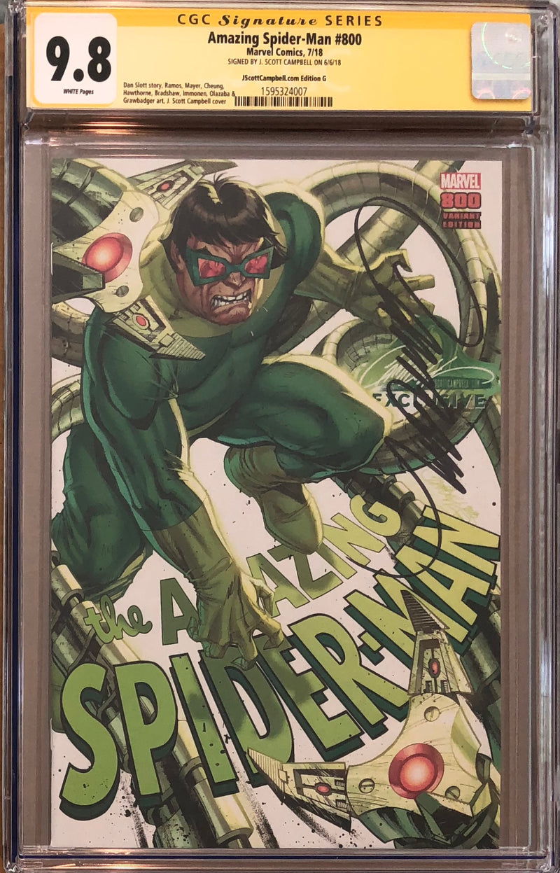 Amazing Spider-Man #800 J. Scott Campbell Edition A-H Exclusive Set CGC 9.8 SS