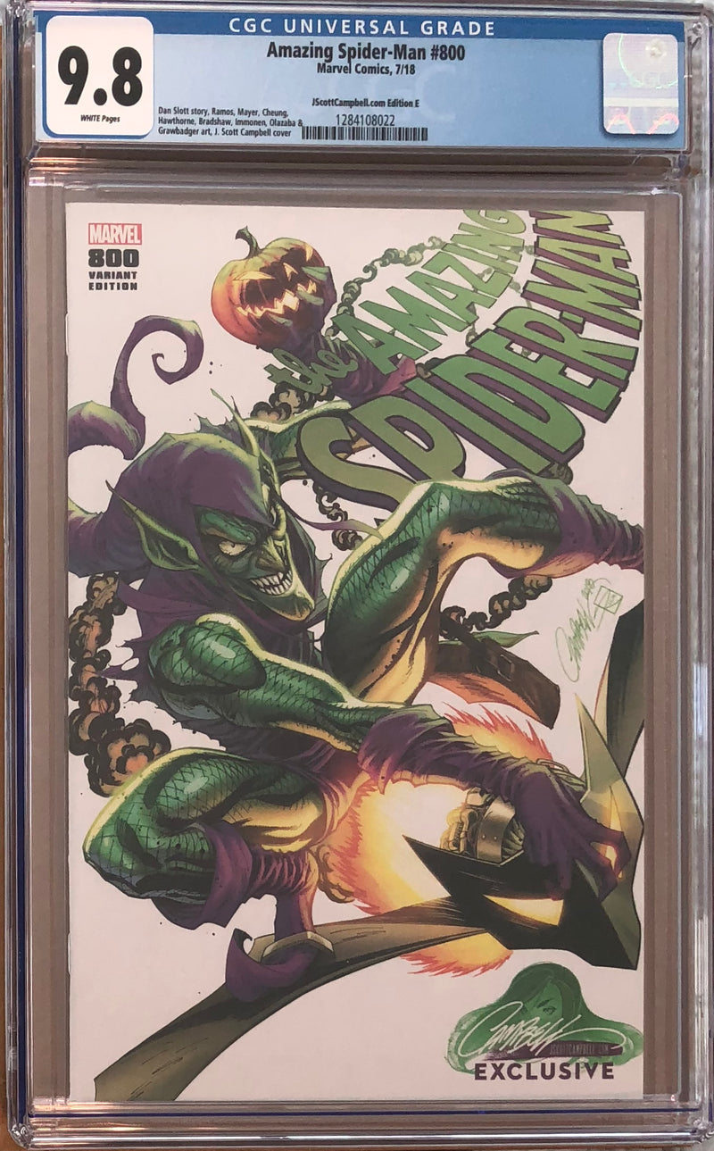 Amazing Spider-Man #800 J. Scott Campbell Edition A-H Exclusive Set CGC 9.8