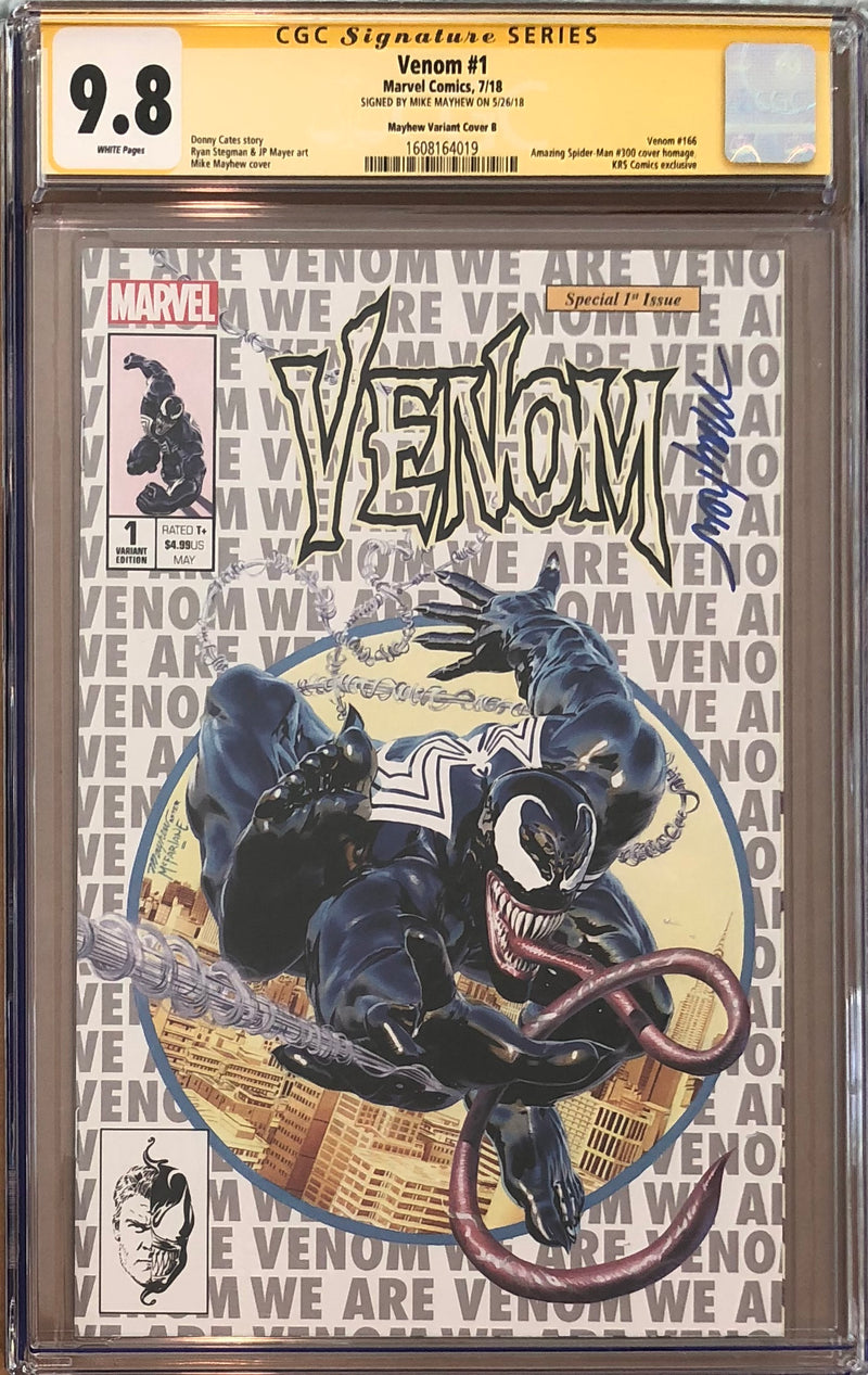 Venom #1 Mike Mayhew Silver Exclusive CGC 9.8 SS