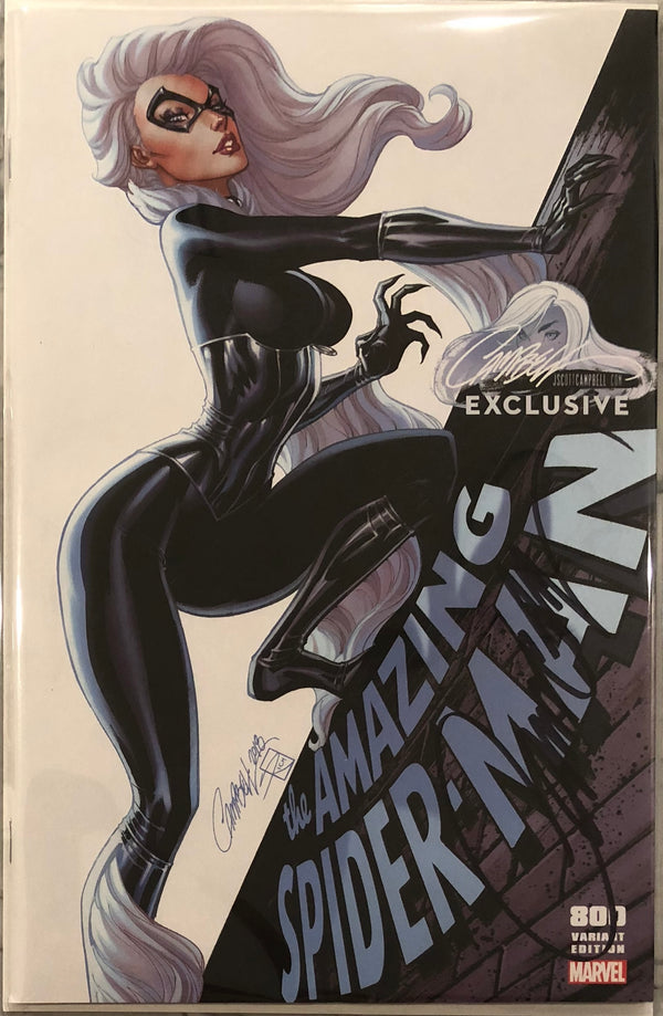 "Amazing Spider-Man #800 J. Scott Campbell Edition C ""Black Cat"" Exclusive - Signed with COA"