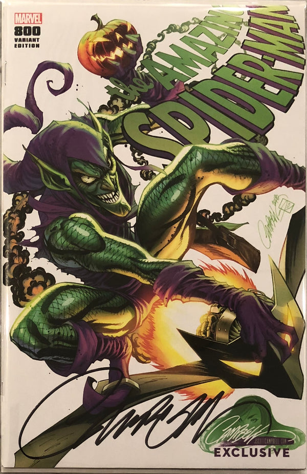 "Amazing Spider-Man #800 J. Scott Campbell Edition E ""Green Goblin"" Exclusive - Signed with COA"