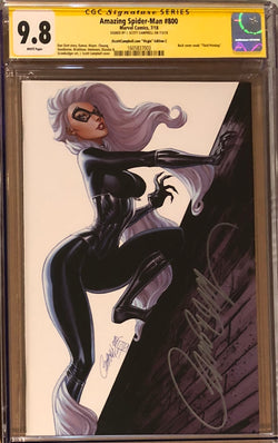 "Amazing Spider-Man #800 J. Scott Campbell Edition C ""Black Cat"" SDCC Virgin Exclusive CGC 9.8 SS"