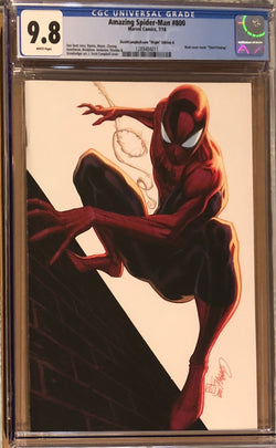 "Amazing Spider-Man #800 J. Scott Campbell Edition A ""Spider-Man"" SDDC Virgin Exclusive CGC 9.8"